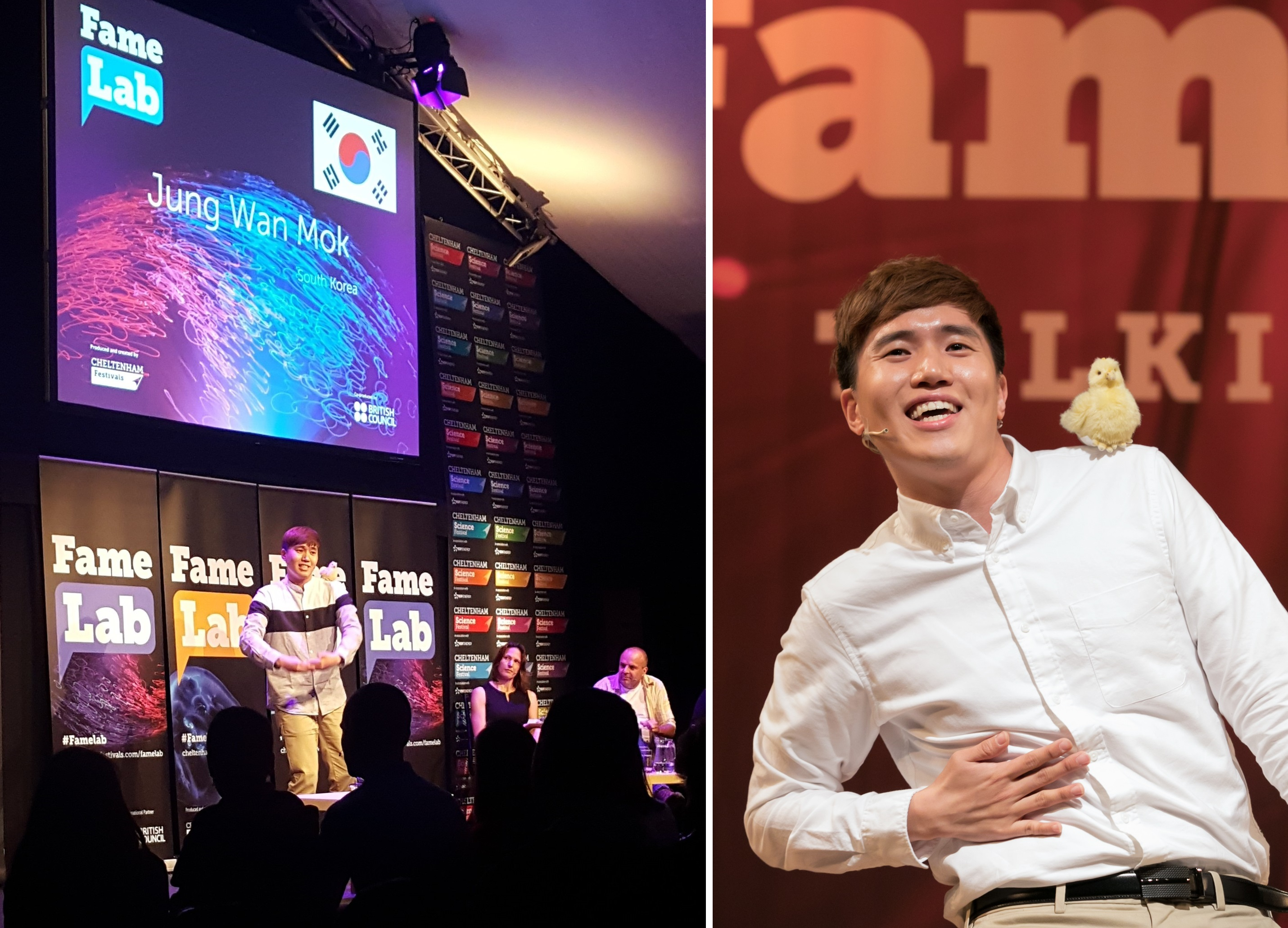 Jung Wan Mok of the Department of Biological Sciences receives FameLab grand prize 이미지2