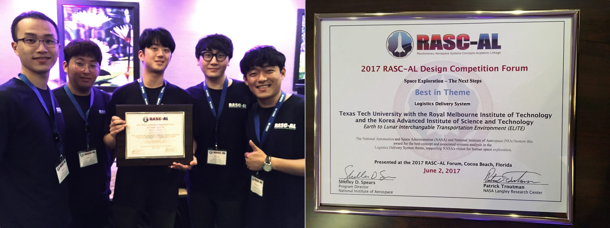 Department of Aerospace Engineering wins award in NASA mission design competition 이미지2