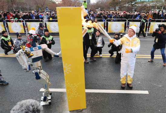 Hubo Completes New Mission at the Winter Olympic Torch Relay 이미지3