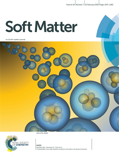 Undergrad's Paper Chosen as the Cover Article in Soft Matter 이미지2