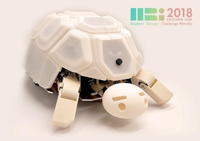 Figure 1. Shelly, a tortoise-like robot for one-to-many interactions with children