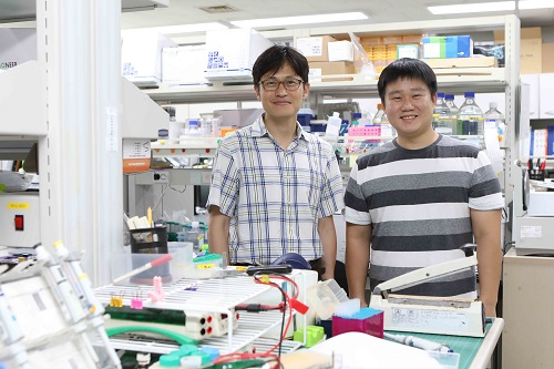 from left: Professor Joon Kim and PhD candidate Yong Joon Kim