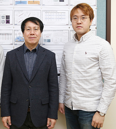 from left: Professor Wonho Choe and Research Professor Sanghoo Park