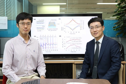 (from left: PhD Min-Ho Seo and Professor Jun-Bo Yoon)