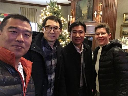 from left: Dr. Bok Yeop Ahn, Dr. Chanhoon Kim, Professor Il-Doo Kim and Professor Jennifer A. Lewis