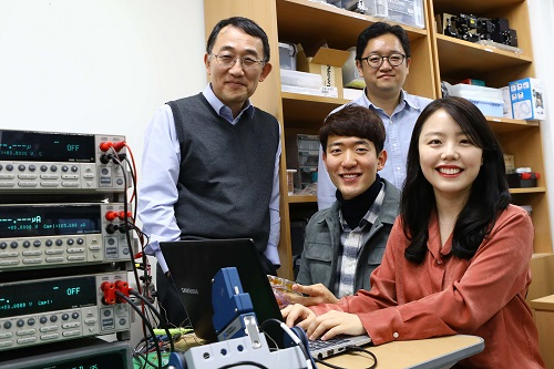 from left clockwise: Professor Seung Seob Lee, Professor Bong Jae Lee, PhD Mikyung Lim and PhD candidate Jaeman Song