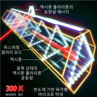 반도체 육각형 막대 구조에서 생성되는 상온 엑시톤 폴라리톤 응축 및 이의 운동량 제어